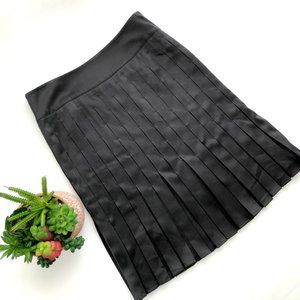 2/$25 Magaschoni • Silk Pleated Skirt Black